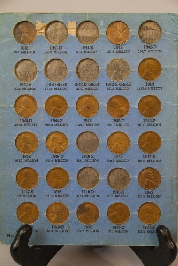 Lincoln Head Pennies 1909-40 & Canadian Small Cent - 6