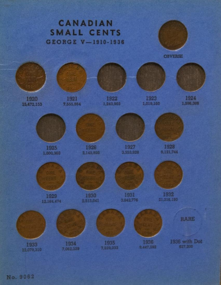 Lincoln Head Pennies 1909-40 & Canadian Small Cent - 7