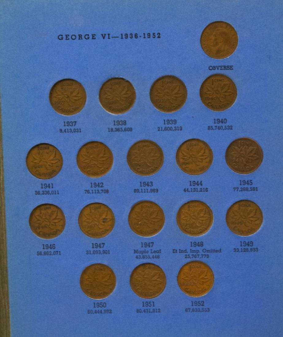 Lincoln Head Pennies 1909-40 & Canadian Small Cent - 8