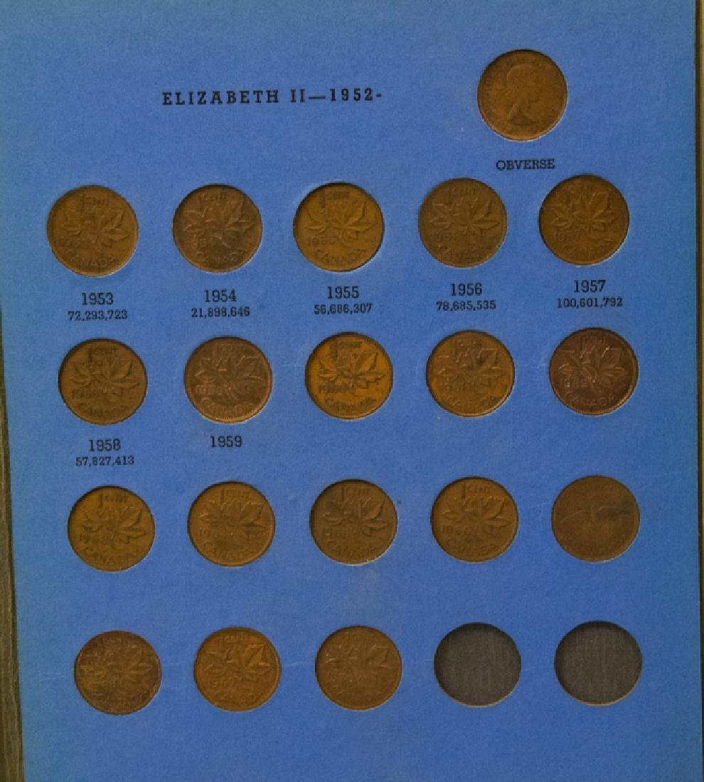 Lincoln Head Pennies 1909-40 & Canadian Small Cent - 9