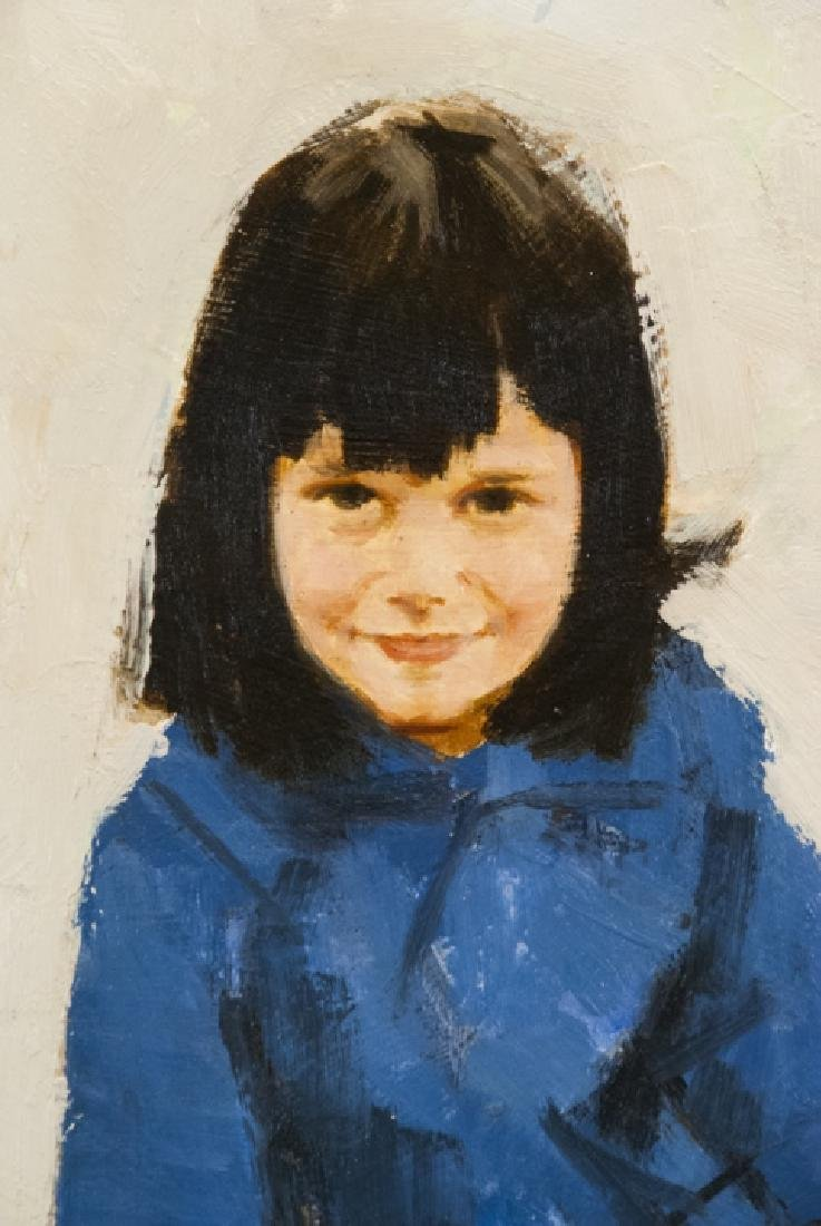 James Alfred Meese - Portrait Painting of a Girl - 4