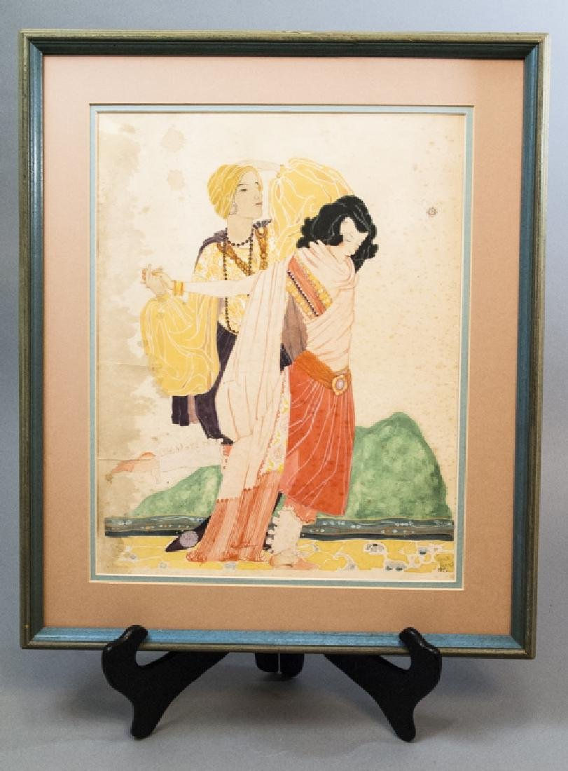Louise Morris Signed 1921 Watercolor