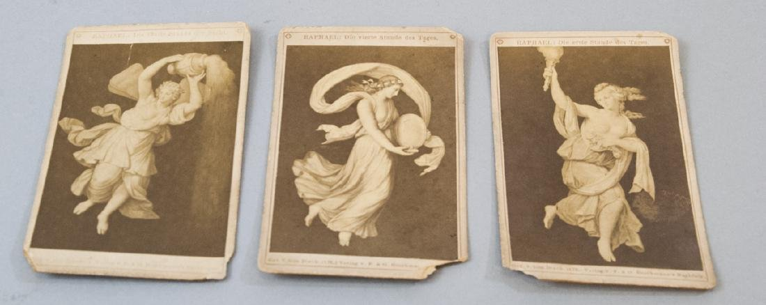 Antique 19th C Cabinet Cards of Raphael Artwork