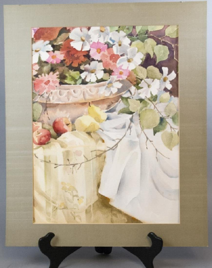 Signed E H Pierce Still Life Watercolor Painting