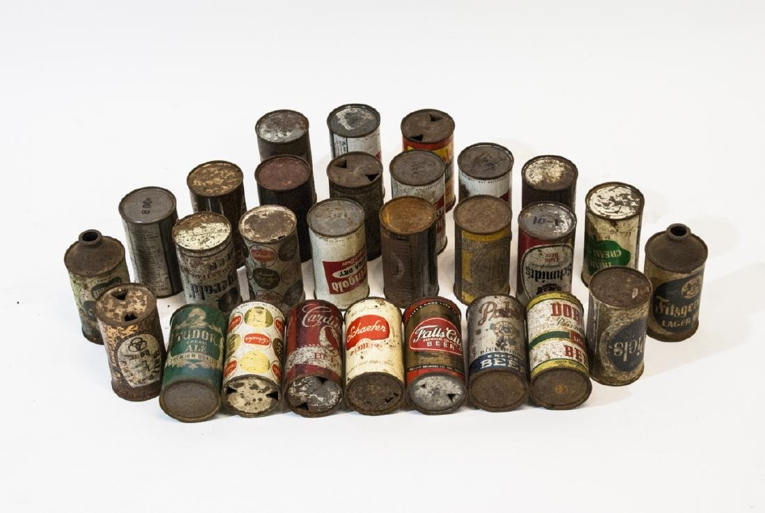 Collection of Antique & Vintage Tin Beer Cans