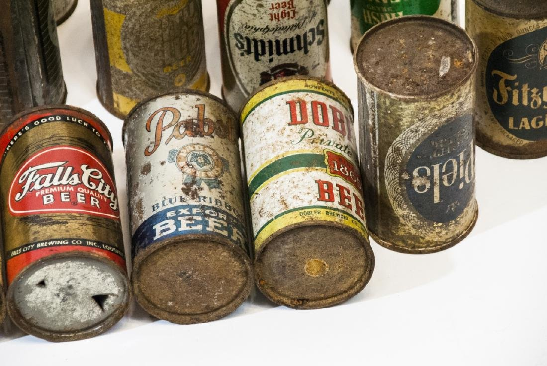 Collection of Antique & Vintage Tin Beer Cans - 2