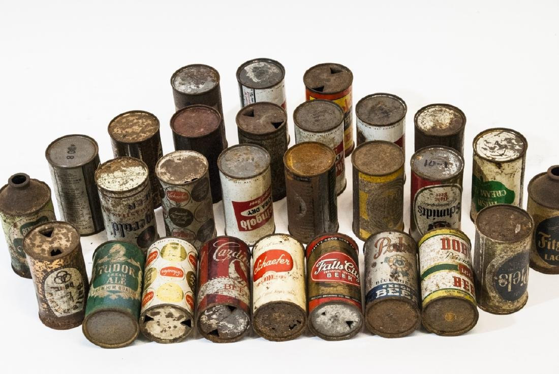 Collection of Antique & Vintage Tin Beer Cans - 3