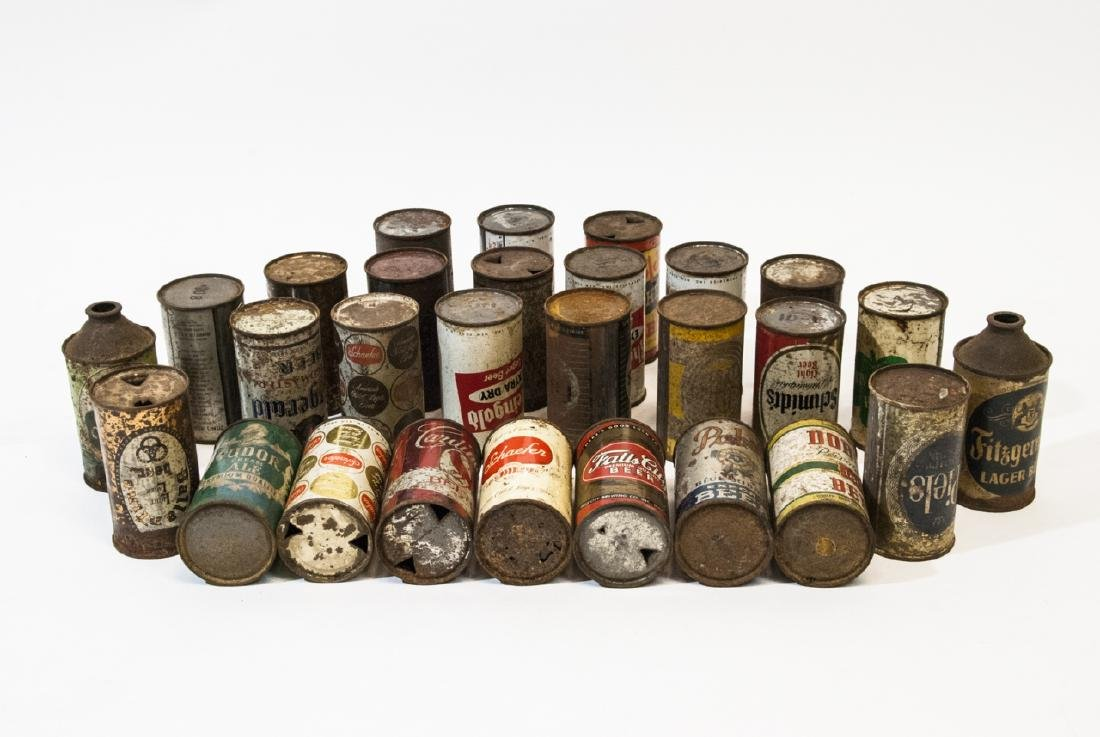 Collection of Antique & Vintage Tin Beer Cans - 4