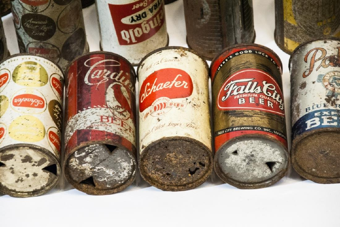 Collection of Antique & Vintage Tin Beer Cans - 6