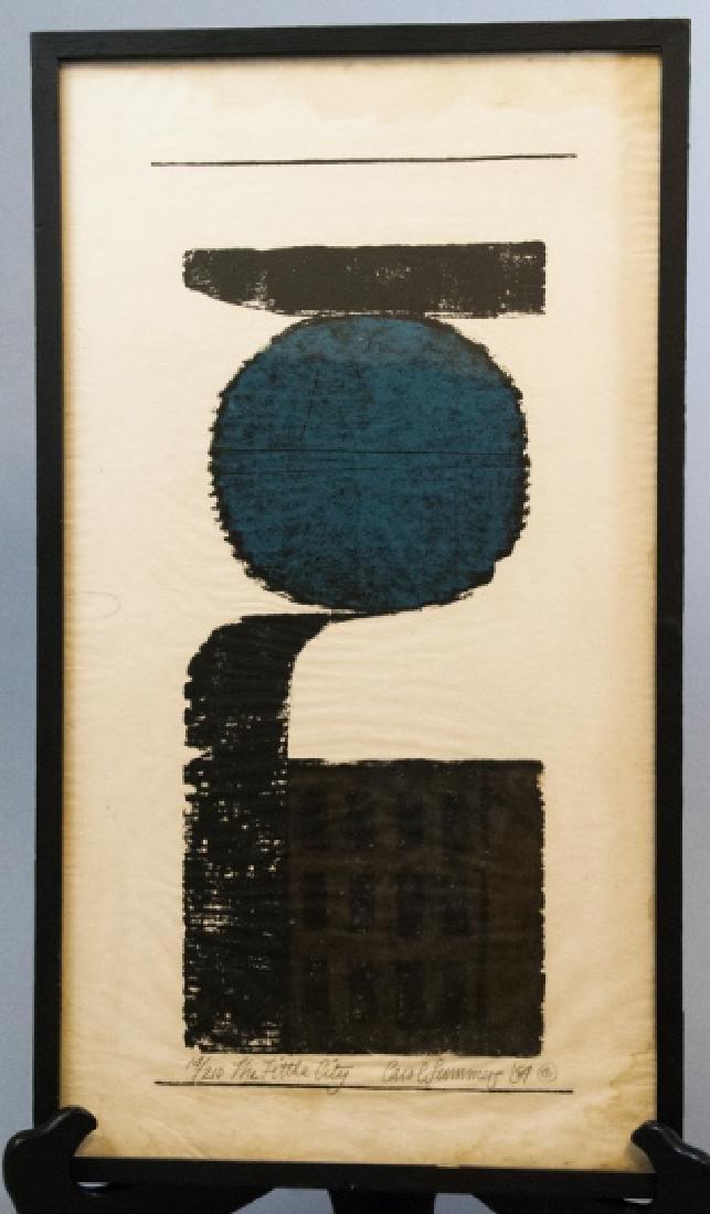 Framed Wood Block Print Signed Carol Summers
