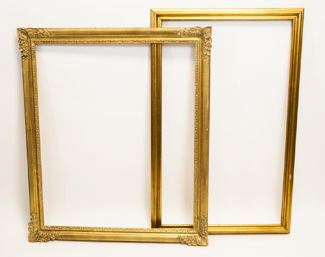 Two Rectangle Gilt Wood Frames - Classic & Fancy