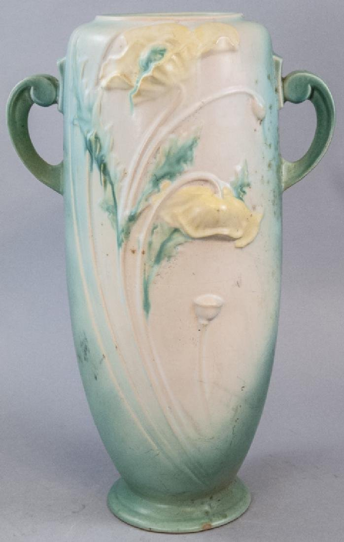 Roseville Pottery Clemana Vase With Handles