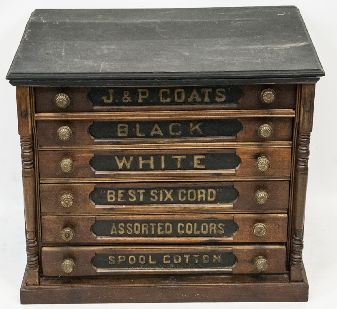 19th Century J & P Coats Storefront Cabinet