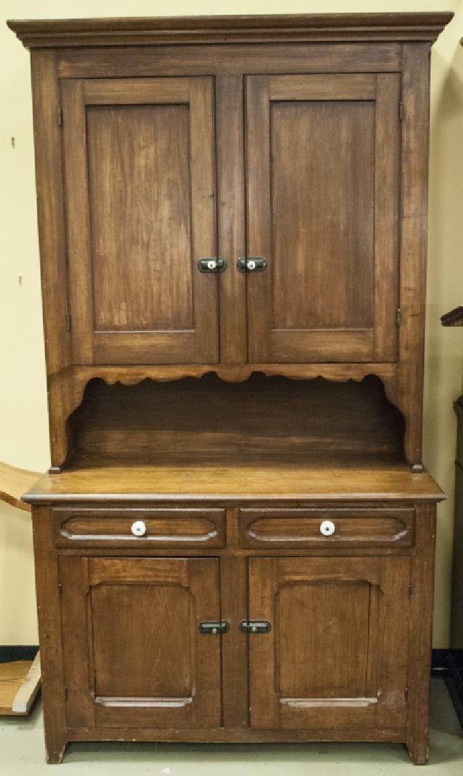 19th Century American Victorian Hutch Cabinet