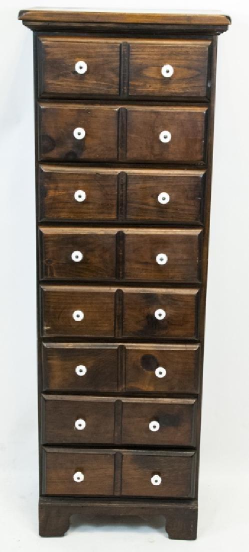Vintage Faux Cubby Drawer Dresser Cabinet