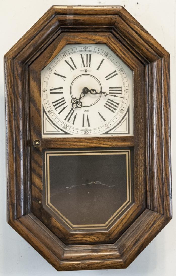 Antique Wooden Howard Miller Pendulum Wall Clock