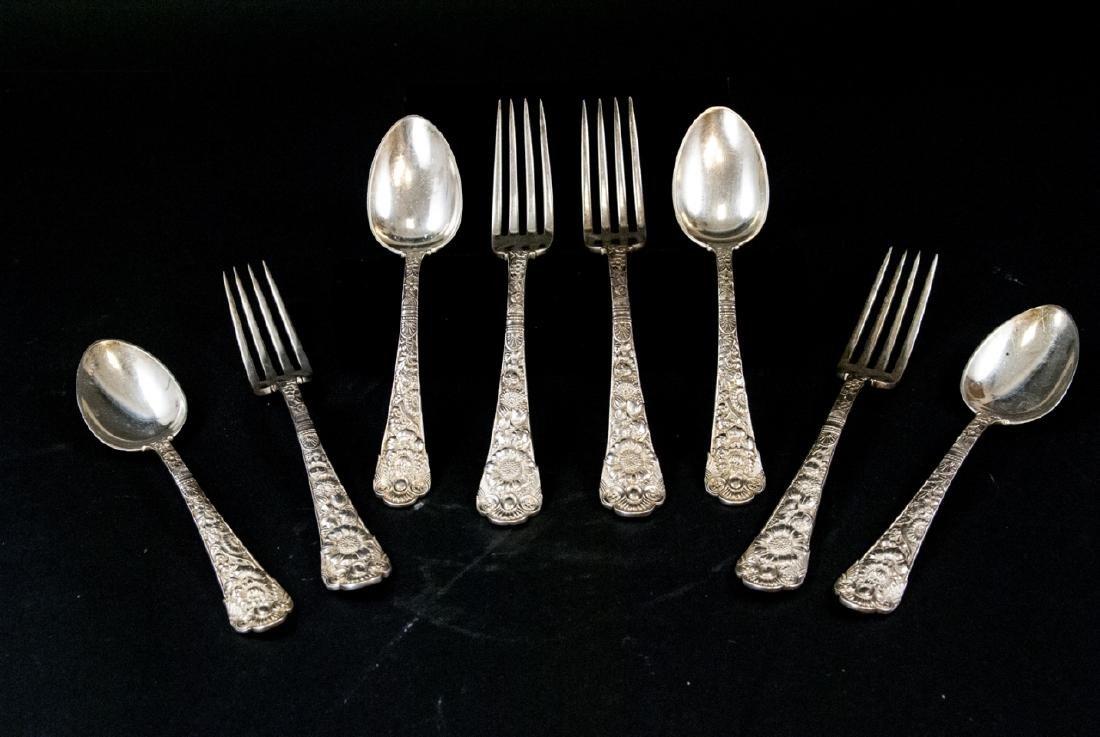 Antique Gorham Sterling Silver Forks & Spoons
