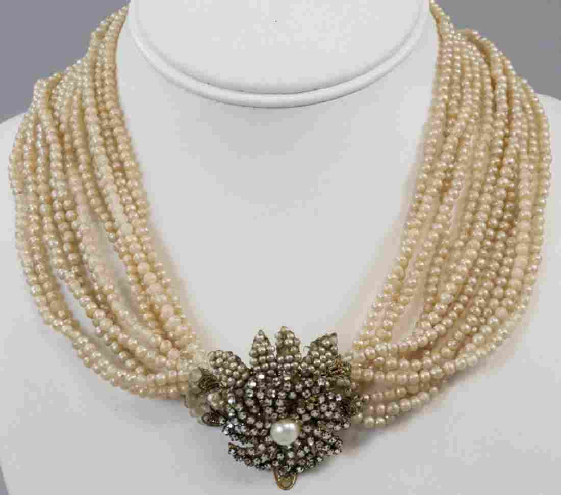Vintage Miriam Haskell Rhinestone Necklace