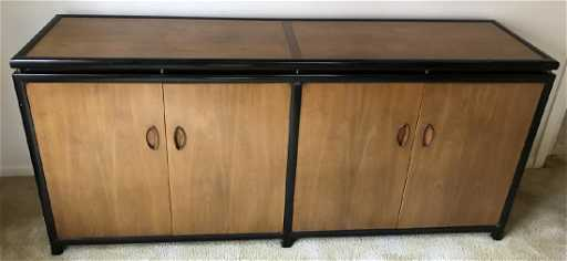 Mid Century Asian Style Dining Room Buffet Console