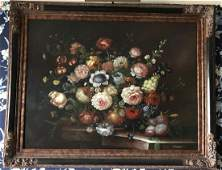 Large Dutch Old Master Style Still Life Painting