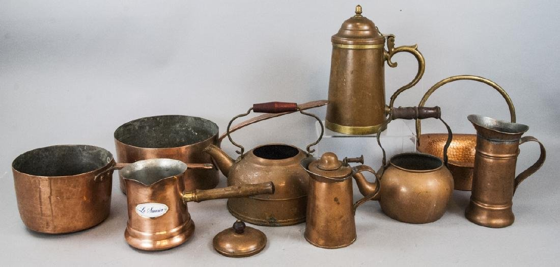 Assorted Lot Of Copper Kitchen & Home Items