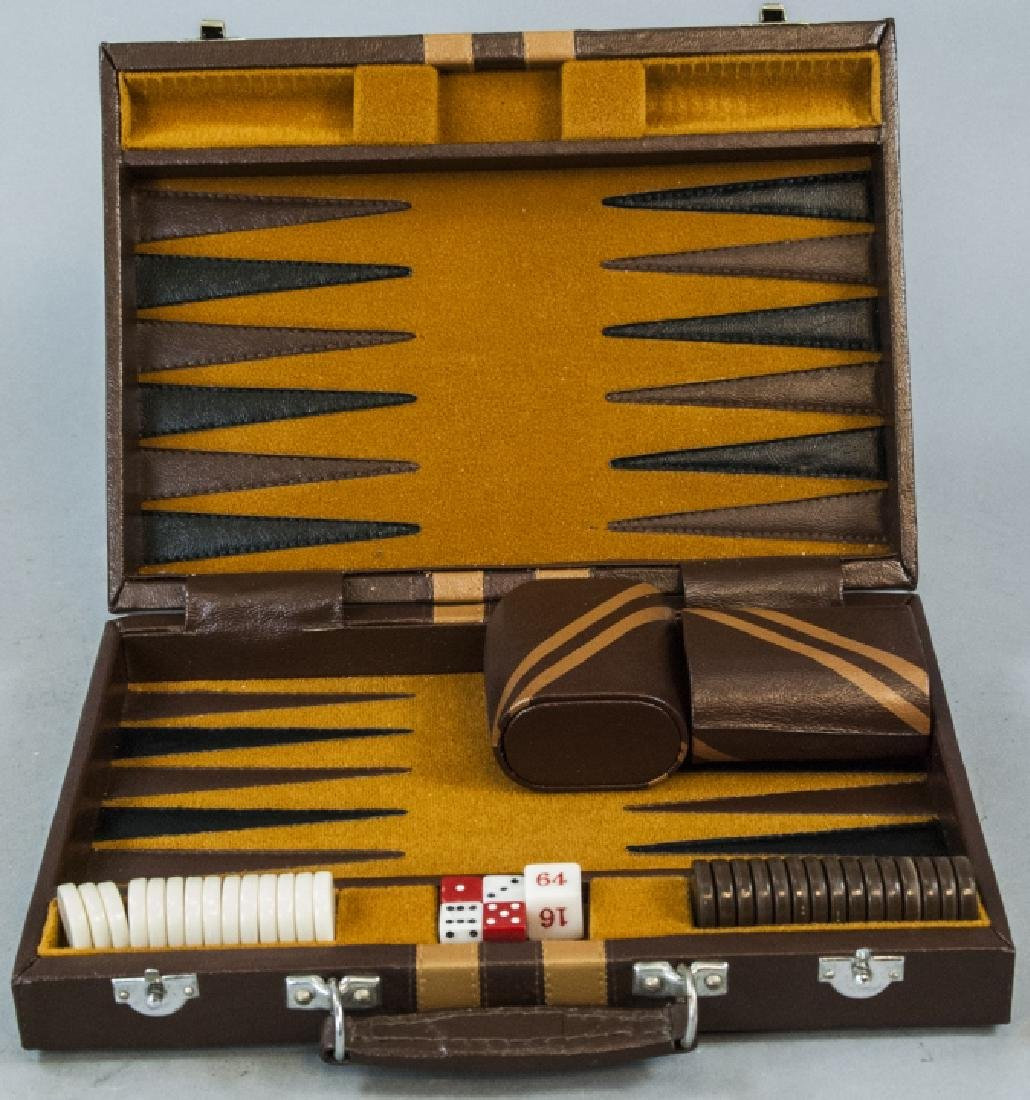 Leather Bound Backgammon Game Case