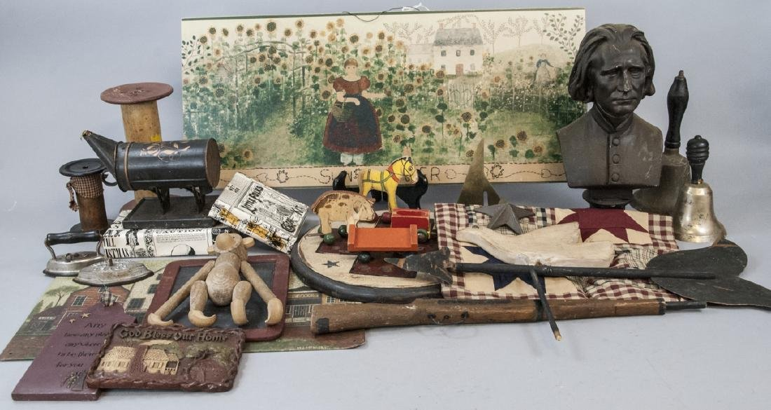 Lot Of Vintage & Antique Home Decorations