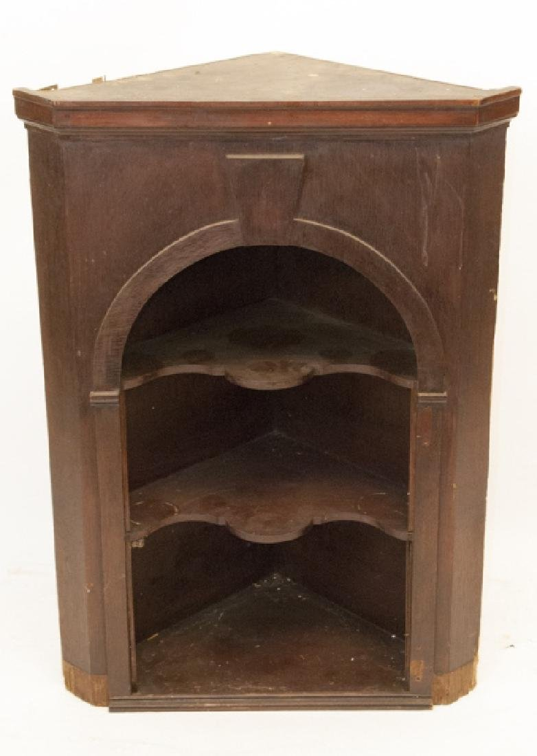Antique Hanging Corner Display Shelf