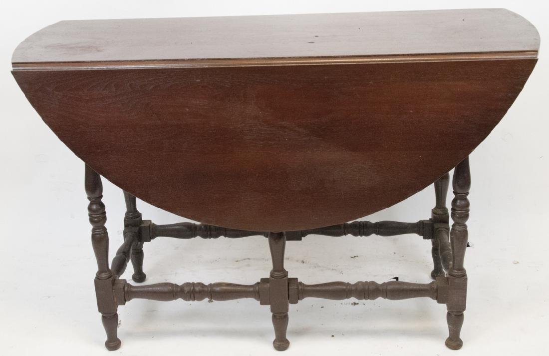 Antique Drop Leaf Maple Dining Table