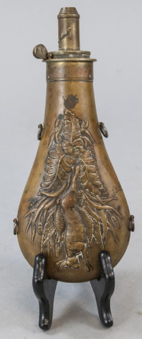 James Dixon & Son Dead Game Copper Powder Flask
