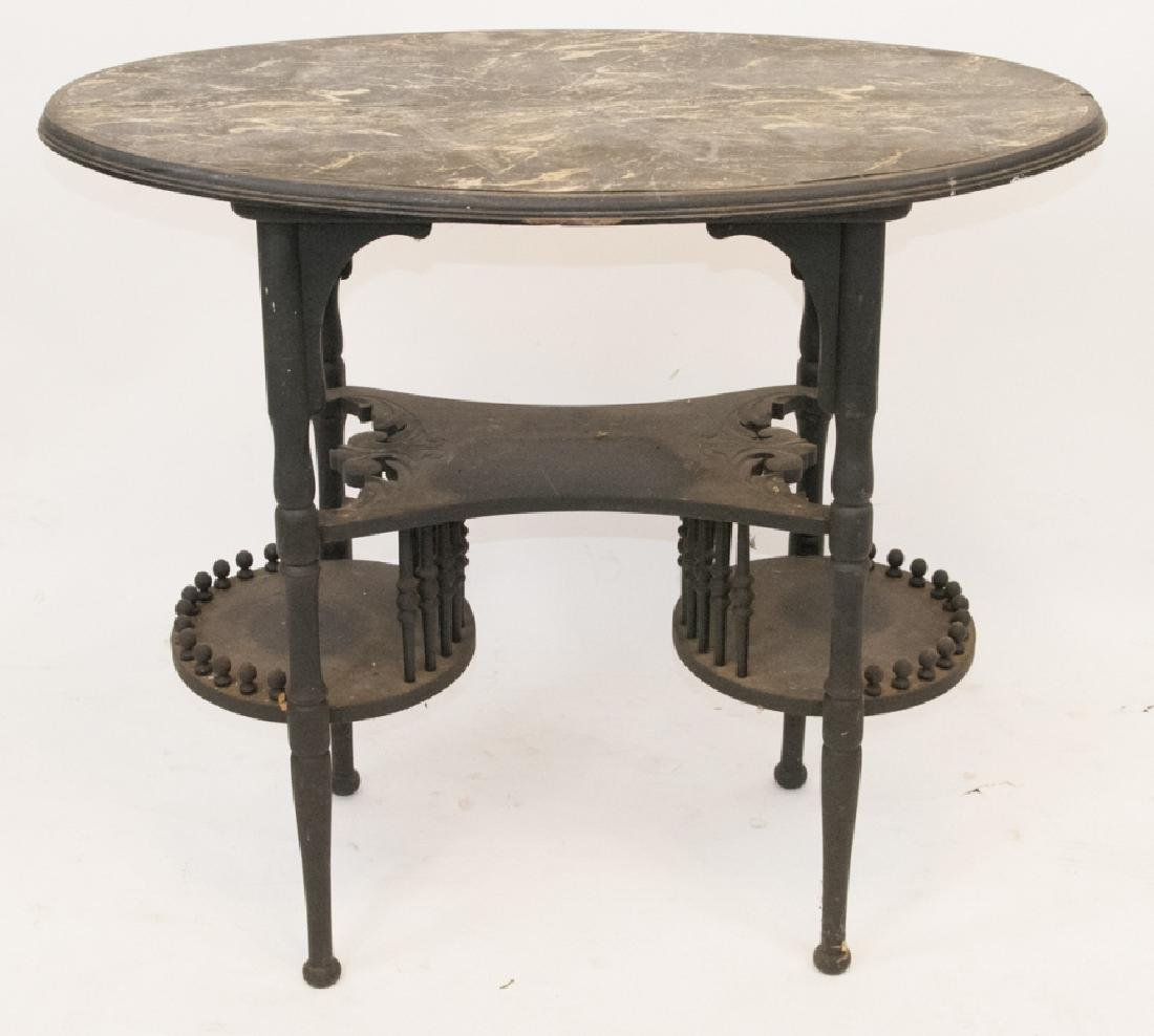 Victorian Spindle Parlor Table