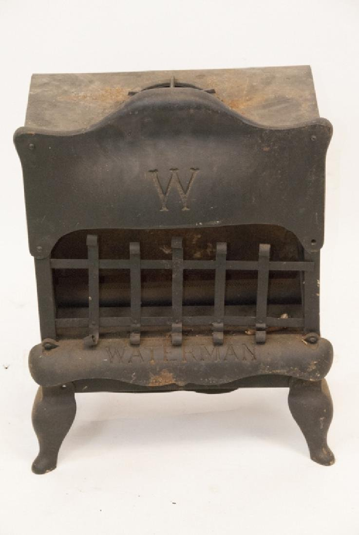 Antique Waterman Cast Iron Gas Parlor Heater