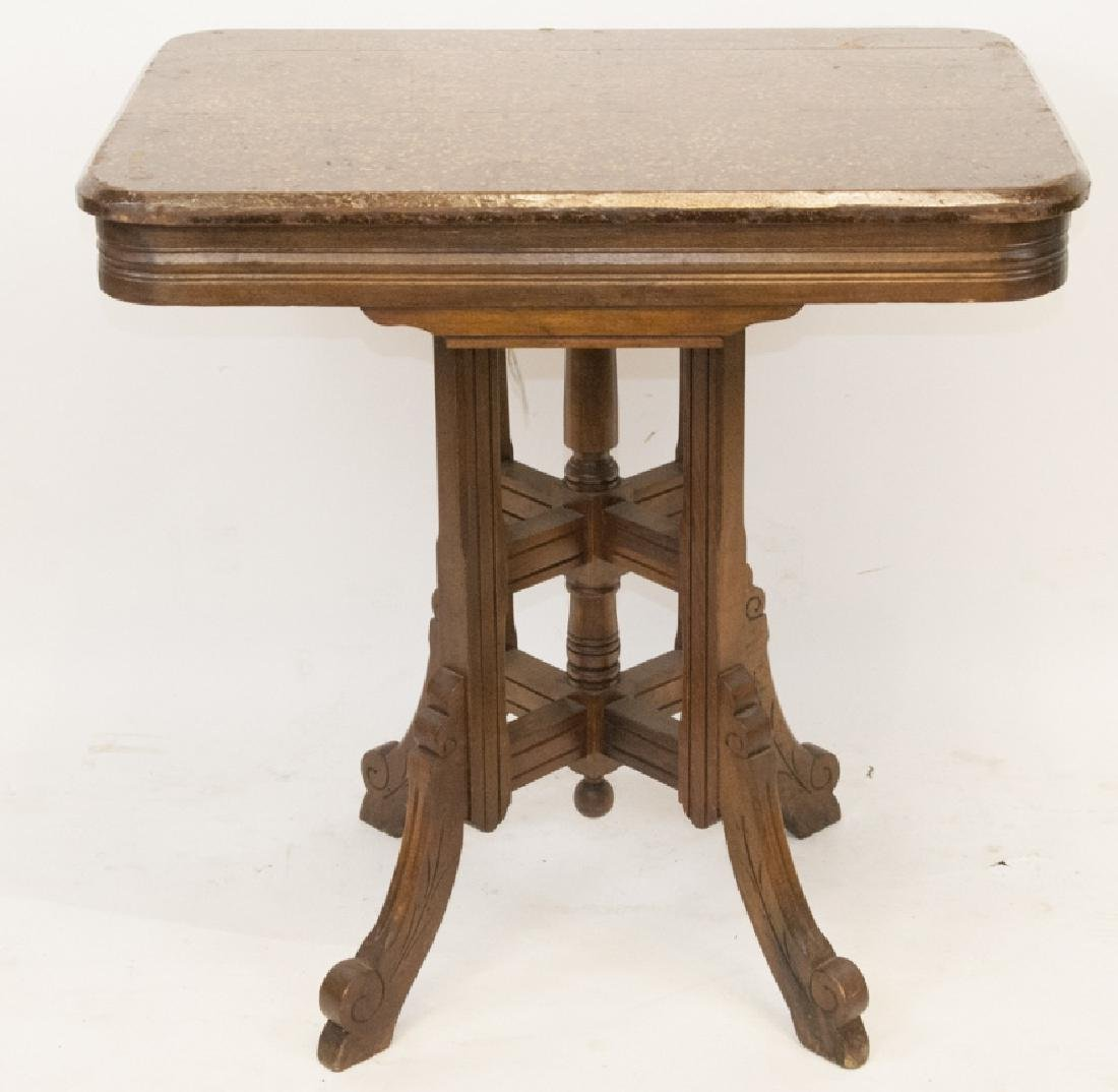 Antique Eastlake Walnut Console Table