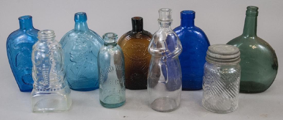 Lot of Vintage & Antique Colored Glass Bottles