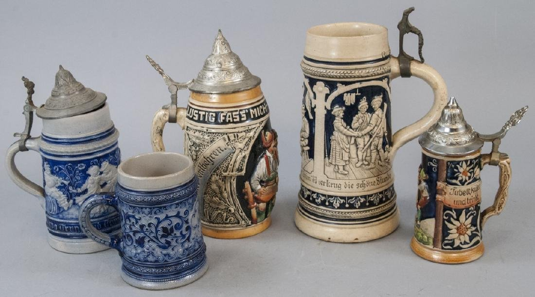 Lot of Vintage German Beer Steins