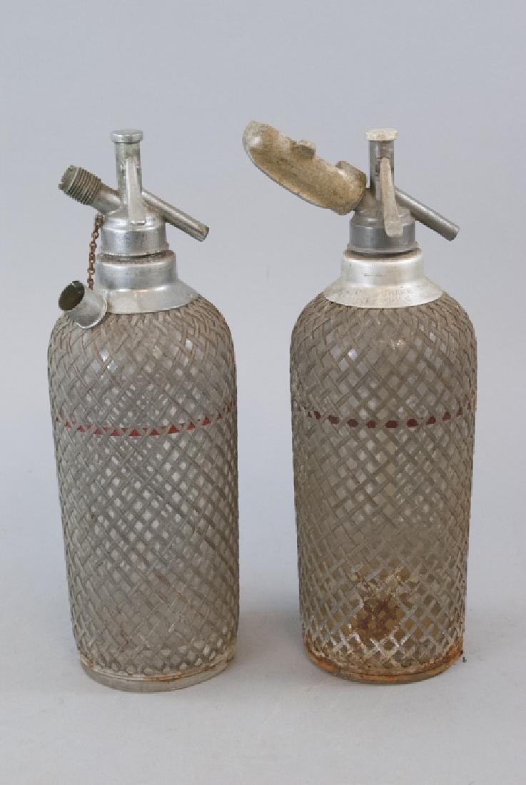 Pair Of Antique Glass Seltzer Bottles