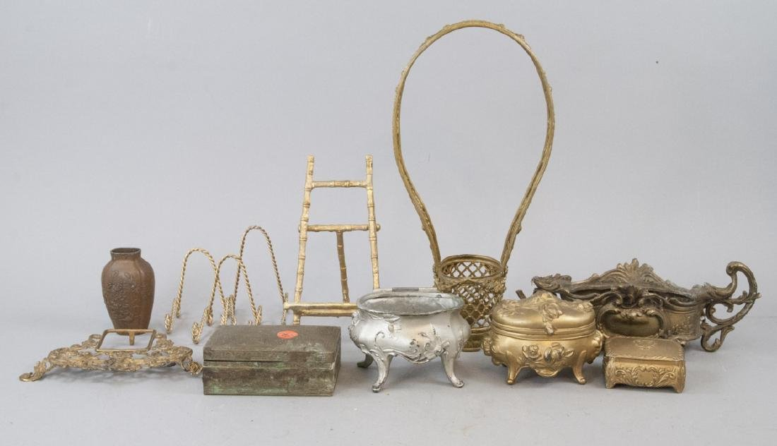 Assorted Lot Of Vintage & Antique Gilt Brass Items