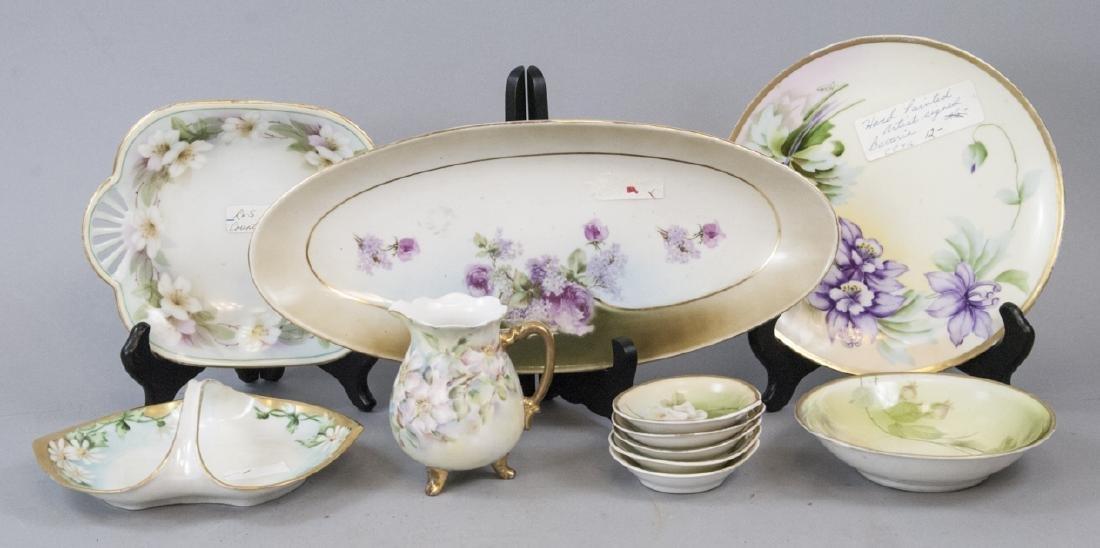 Lot Antique Bavaria Porcelain Hand Painted Pieces