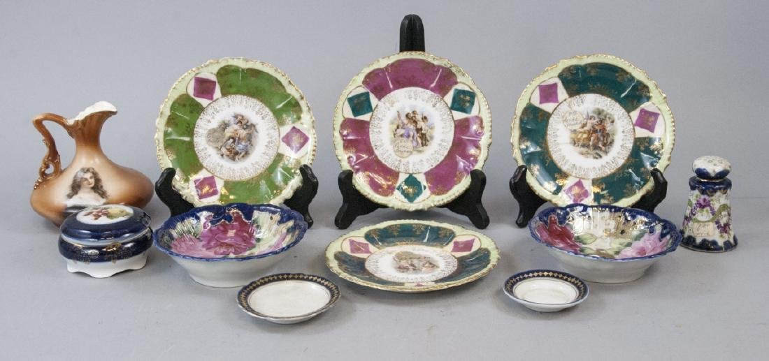 Lot Antique Bavaria Porcelain Hand Painted