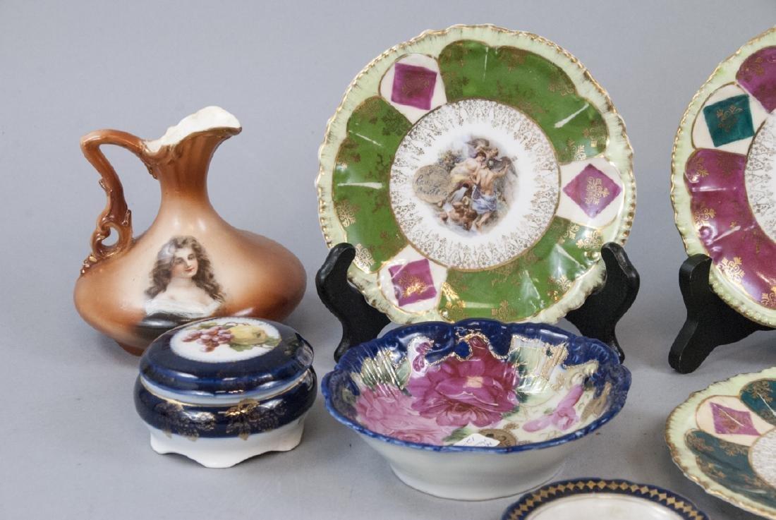 Lot Antique Bavaria Porcelain Hand Painted - 2