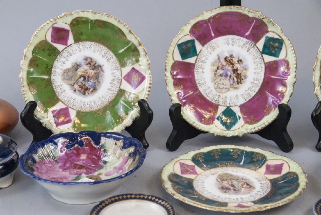 Lot Antique Bavaria Porcelain Hand Painted - 3