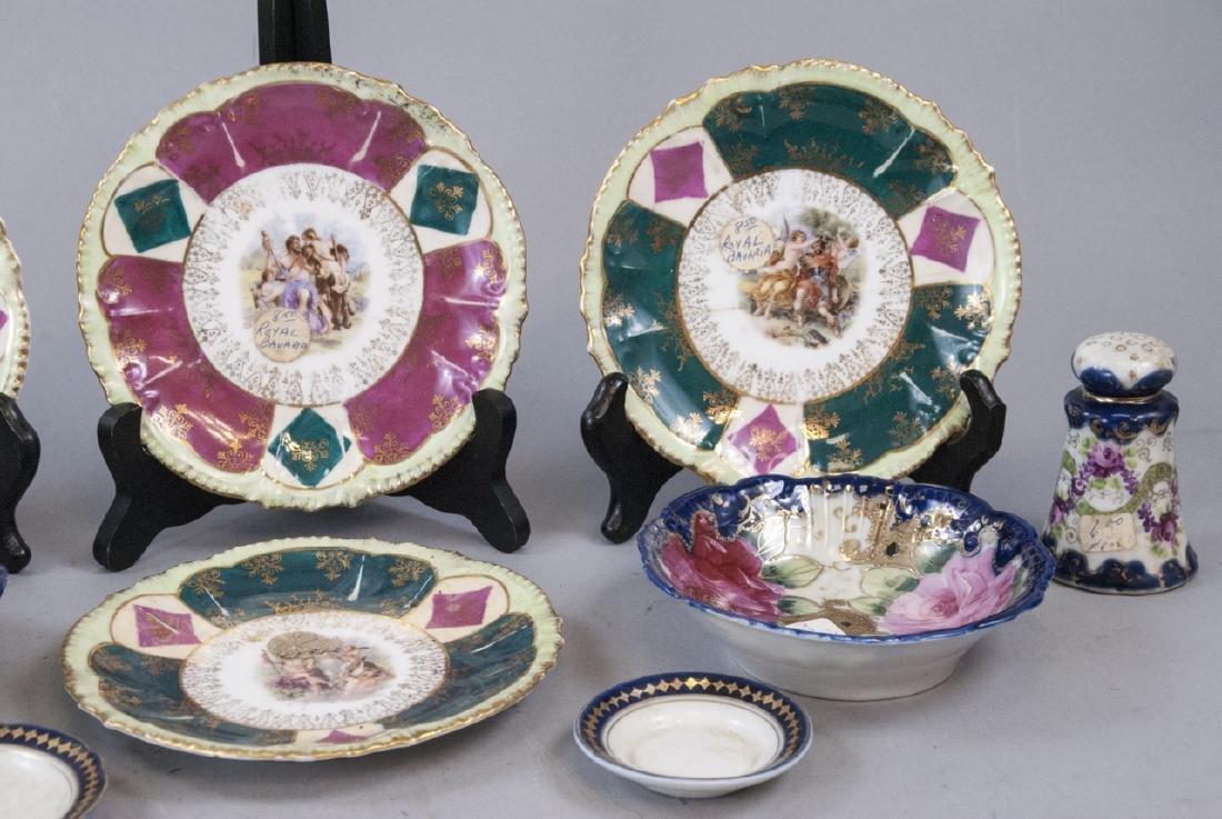 Lot Antique Bavaria Porcelain Hand Painted - 4