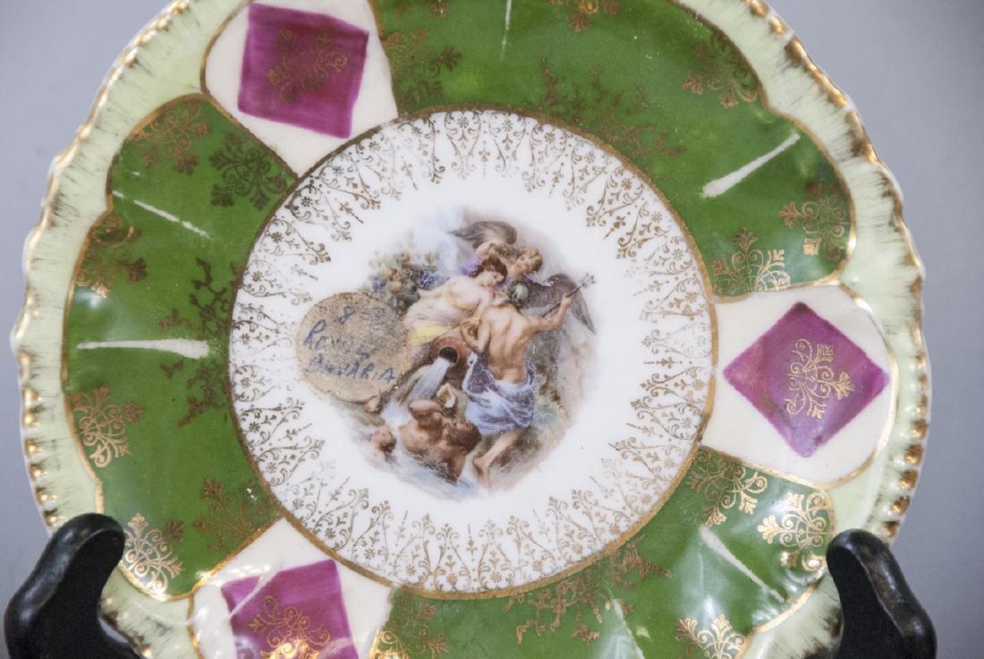 Lot Antique Bavaria Porcelain Hand Painted - 5