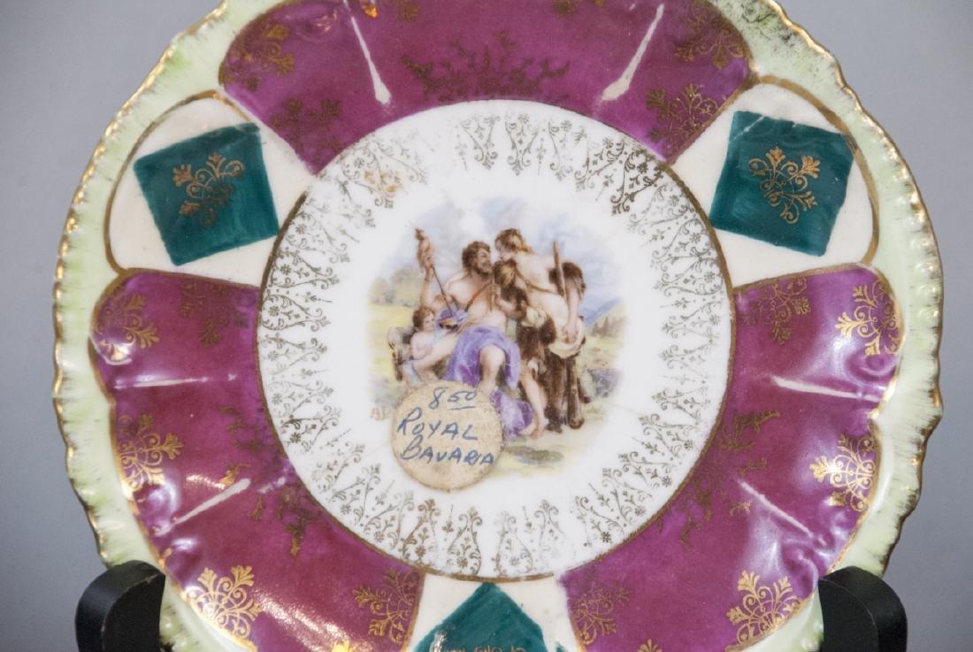 Lot Antique Bavaria Porcelain Hand Painted - 6