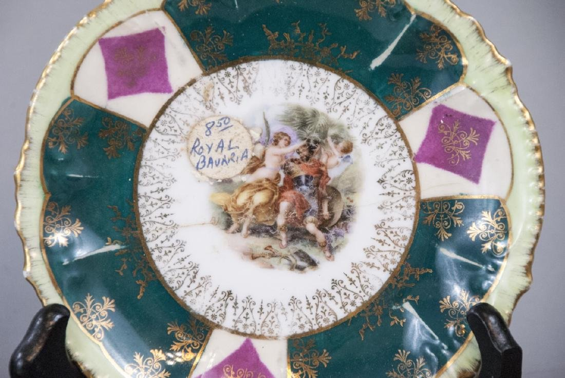 Lot Antique Bavaria Porcelain Hand Painted - 7