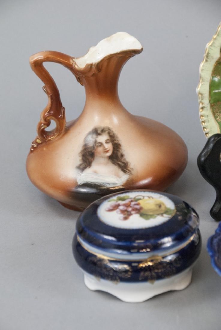 Lot Antique Bavaria Porcelain Hand Painted - 8