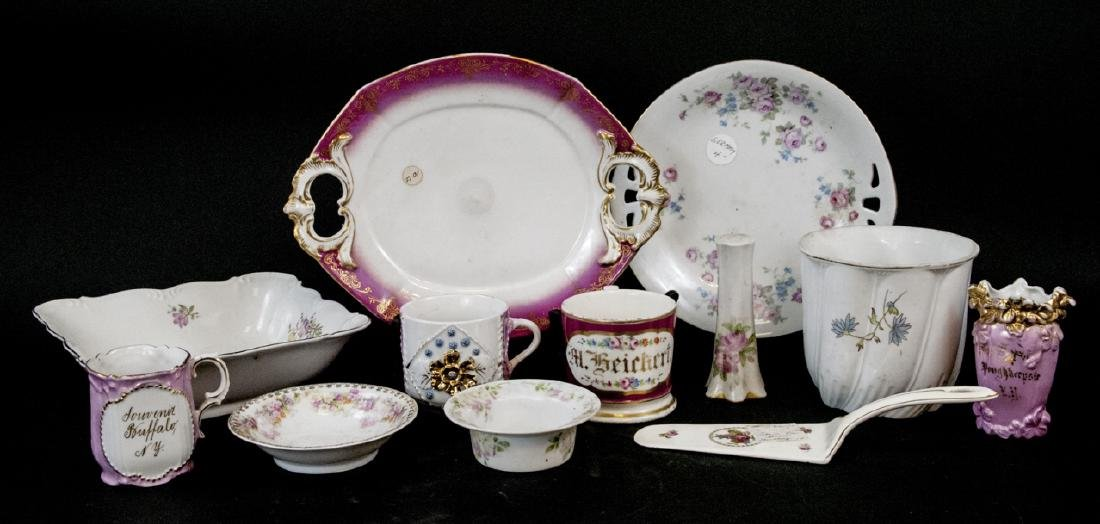 Lot Antique Bavaria Porcelain Hand Painted