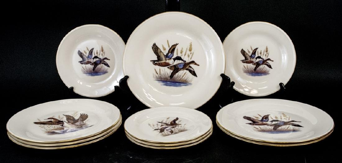 Vintage Lenox Lunch & Dinner Plates Mallard Ducks