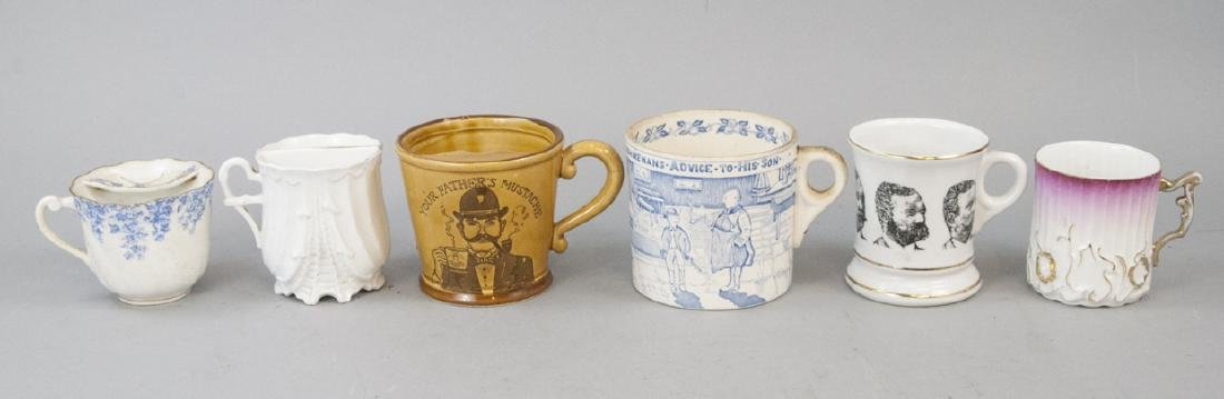 Antique Shaving Mug Lot & Advice to Son Mug