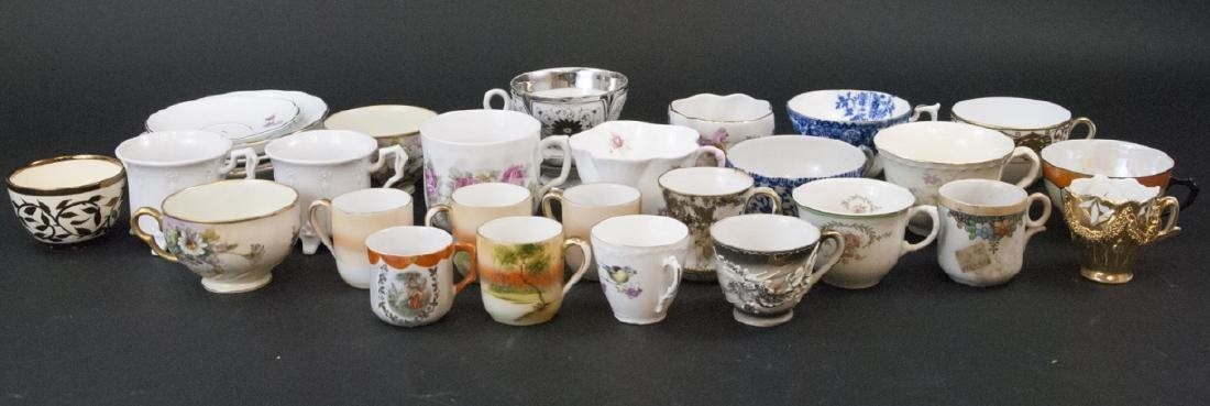 Large Lot of Antique Coffee & Tea Cups Unmatched